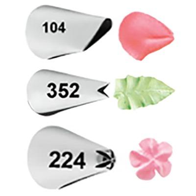Wilton Набор насадок для кондитерского мешка №104, №352 и №224