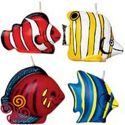Wilton Набор свечей: Тропические рыбки, 4 шт.