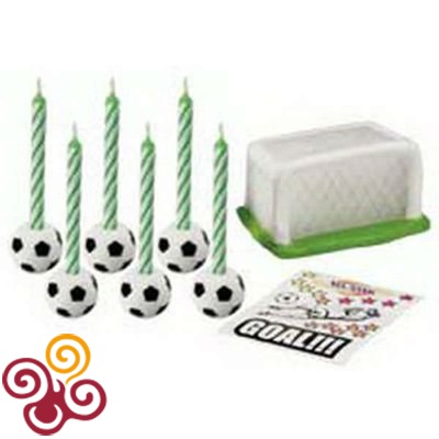 Wilton Набор свечей: Футбол, 18 предметов