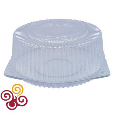 Коробка для торта пластиковая круглая диаметр 240мм, высота 100мм, макс. вес 1,5 кг.