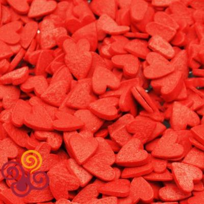 Посыпки Сердечки красные (большие)