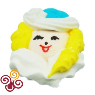 Сахарная фигурка плоская Лицо Снегурочки, шт