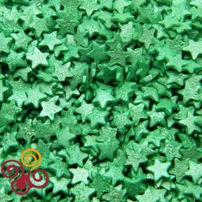Посыпки Звезды зеленые перламутровые