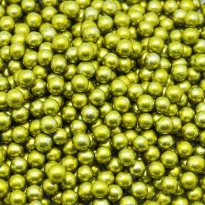 Посыпка золотые шарики 7мм