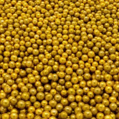 Посыпка золотые шарики 3мм