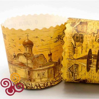 Форма бумажная для пасхального кулича Берестяная