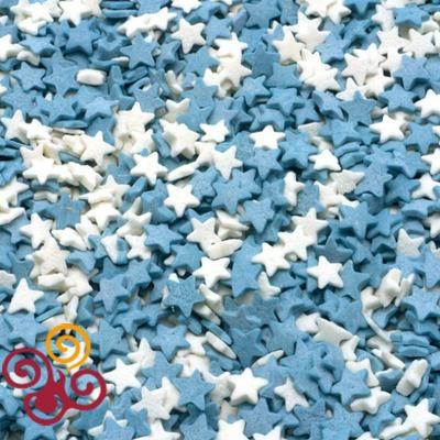 Посыпки Звезды бело-голубые