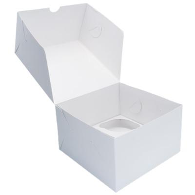 Коробка картонная под 4 капкейка 160*160*100