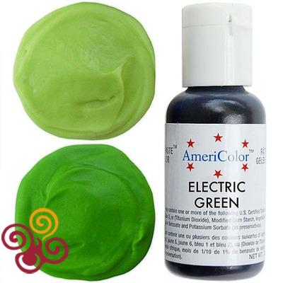 AmeriColor Краситель пищевой гелевый цвета ELECTRIC GREEN, 21 г