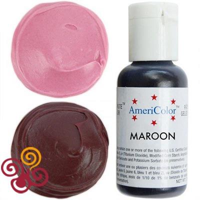 AmeriColor Краситель пищевой гелевый цвета MAROON, 21 г