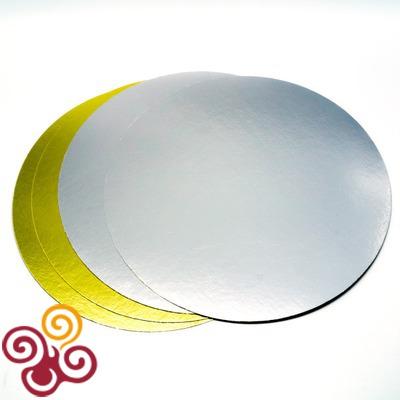 Подложка двусторонняя золото-серебро 240мм, толщина 0,8мм