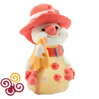 Сахарная фигурка Снеговик в шляпе №1