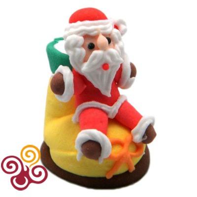 Сахарные фигурки Рождественский носок - Дед Мороз