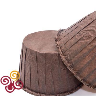 Капсулы для маффинов с усиленным краем коричневые