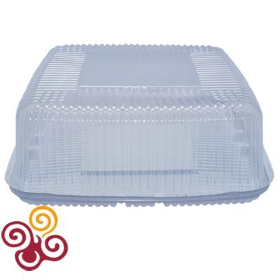 Коробка для торта пластиковая квадратная сторона 267мм, высота 118мм, макс. вес 2 кг.