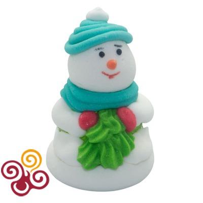 Сахарная фигурка Снеговик с мармеладом №2