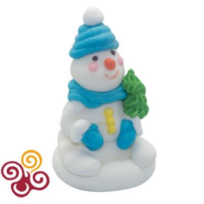 Сахарная фигурка Снеговик с елочкой №1