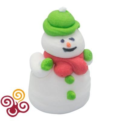 Сахарная фигурка Снеговик в зеленой шляпе