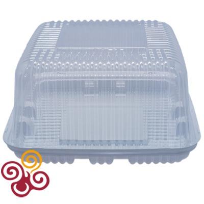 Коробка для торта пластиковая квадратная сторона 200мм, высота 117мм, макс. вес 1,5 кг.