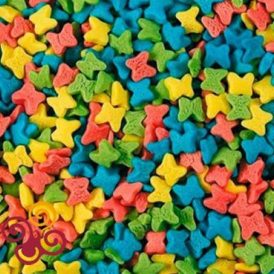 Посыпка Бабочки разноцветные мини