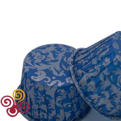 Капсулы для маффинов с усиленным краем синий дамаск