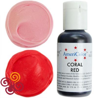 AmeriColor Краситель пищевой гелевый цвета CORAL RED, 21 г