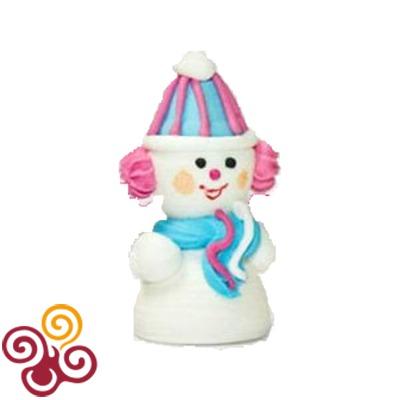 Сахарная фигурка Снеговик забавный №5