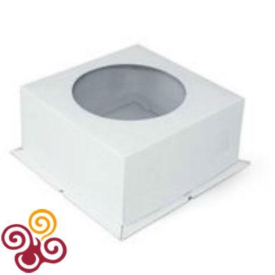 Коробка для торта картонная с окном 300*300*190