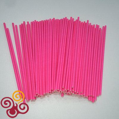 Палочки для кейкпопсов Розовые 15 см 100 шт