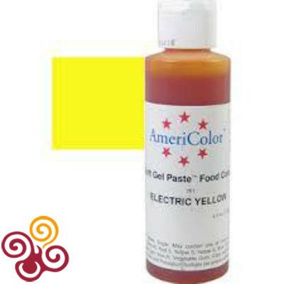 AmeriColor Краситель пищевой гелевый цвета ELECTRIC YELLOW, 128 г