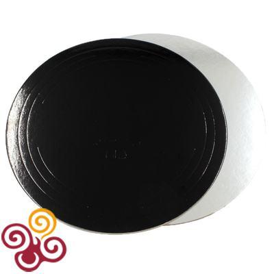 Подложка черная/серебро D260, толщина 1,5мм