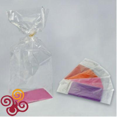 Пакет подарочный с дном 11*17*60 цвета микс