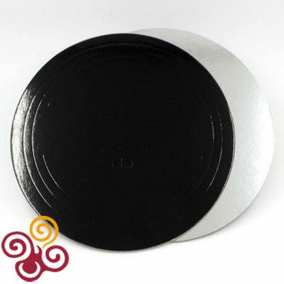 Подложка черная/серебро D260, толщина 3,2мм