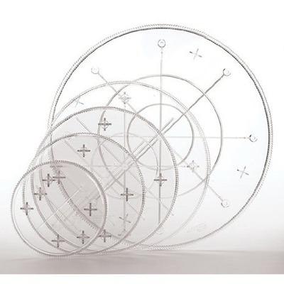 Wilton Тарелка круглая под торт: Прозрачная, d=23 см